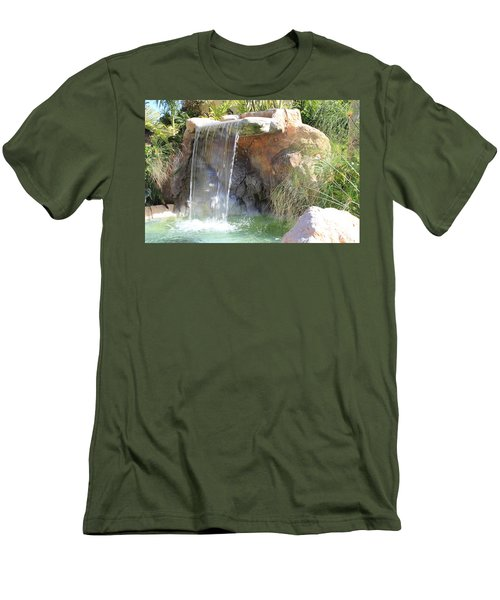 Garden Waterfall Men's T-Shirt (Athletic Fit)