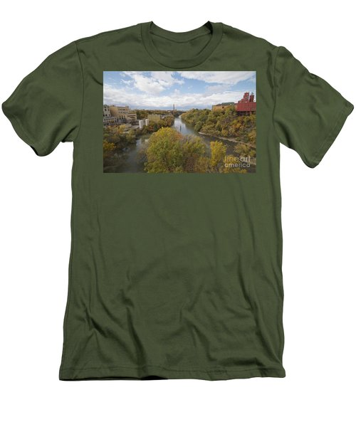 Men's T-Shirt (Slim Fit) featuring the photograph Genesee River by William Norton