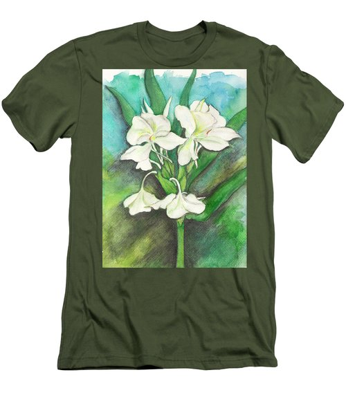 Ginger Lilies Men's T-Shirt (Slim Fit) by Carla Parris