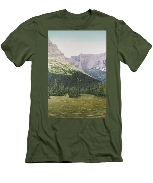 Glacier National Park Montana Men's T-Shirt (Athletic Fit)