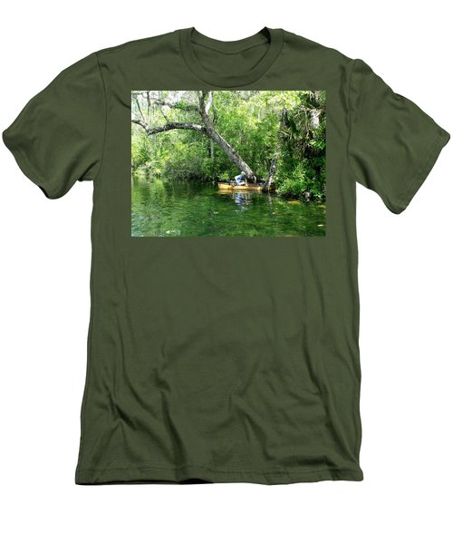 Golden Canoe Launch Men's T-Shirt (Athletic Fit)