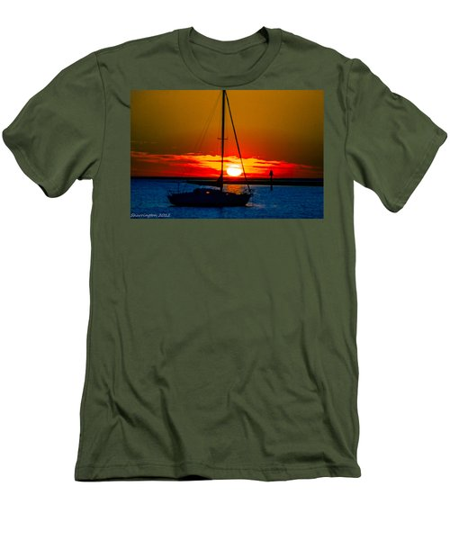 Men's T-Shirt (Slim Fit) featuring the photograph Good Night by Shannon Harrington
