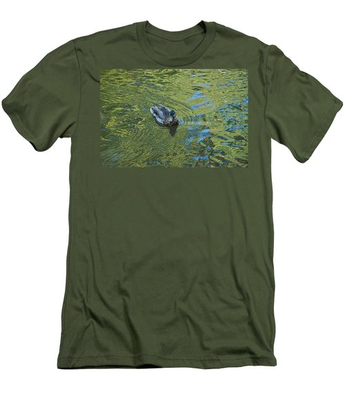 Men's T-Shirt (Slim Fit) featuring the photograph Green Pool by Joseph Yarbrough