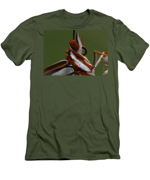 Men's T-Shirt (Slim Fit) featuring the photograph Gulf Fritillary Butterfly Portrait by Daniel Reed