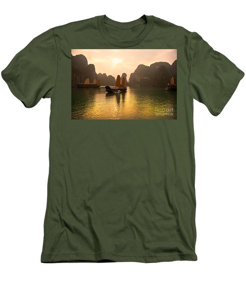 Men's T-Shirt (Slim Fit) featuring the photograph Halong Bay - Vietnam by Luciano Mortula