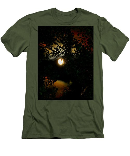 Men's T-Shirt (Slim Fit) featuring the photograph Haunting Moon IIi by Jeanette C Landstrom