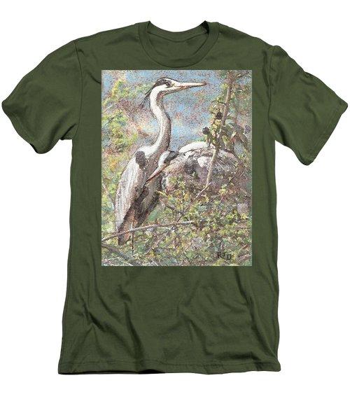 Herons Resting Men's T-Shirt (Athletic Fit)