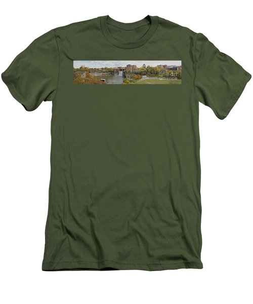 Men's T-Shirt (Slim Fit) featuring the photograph High Falls Panorama by William Norton