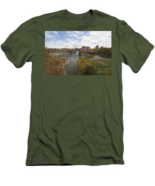 Men's T-Shirt (Slim Fit) featuring the photograph High Falls by William Norton