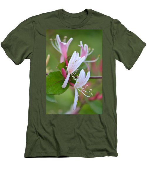 Men's T-Shirt (Slim Fit) featuring the photograph Honeysuckle by JD Grimes