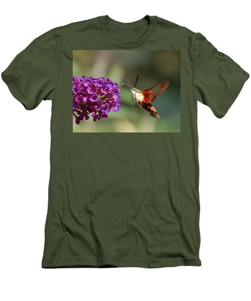 Hummingbird Moth Men's T-Shirt (Slim Fit) by Randy J Heath