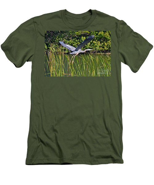 In Flight Men's T-Shirt (Slim Fit) by Carol  Bradley