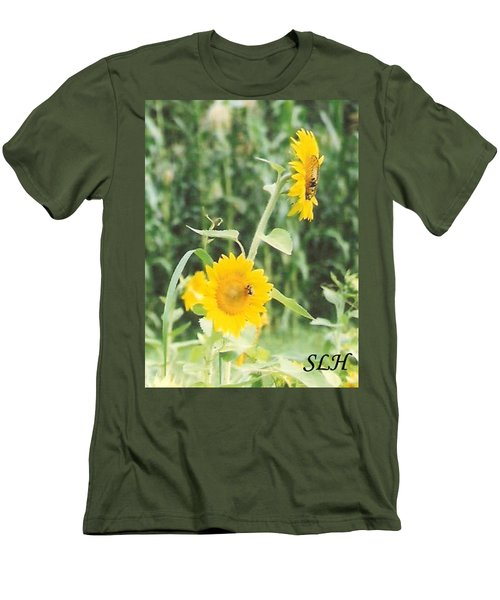 Insect On Sunflowers Men's T-Shirt (Athletic Fit)