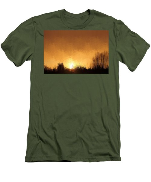Men's T-Shirt (Slim Fit) featuring the mixed media Insomnia 1 by Terence Morrissey