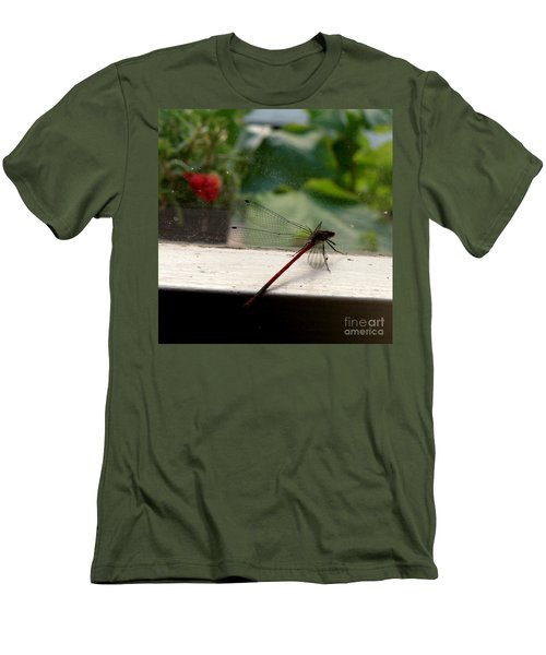 Men's T-Shirt (Slim Fit) featuring the photograph It's Always Greener by Lainie Wrightson