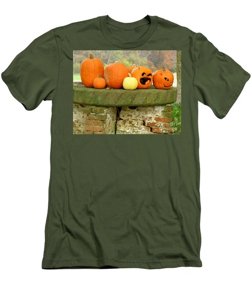 Jack-0-lanterns Men's T-Shirt (Slim Fit) by Lainie Wrightson