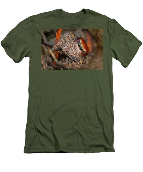 Jumping Spider Portrait Men's T-Shirt (Athletic Fit)