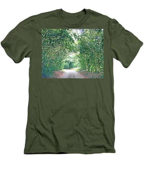 Men's T-Shirt (Slim Fit) featuring the photograph Jungle Drive Avery Island La by Lizi Beard-Ward
