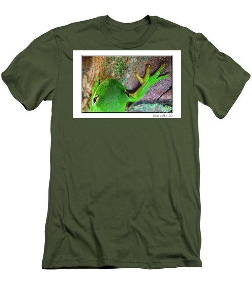 Men's T-Shirt (Slim Fit) featuring the photograph Kermit's Kuzin by Debbie Portwood