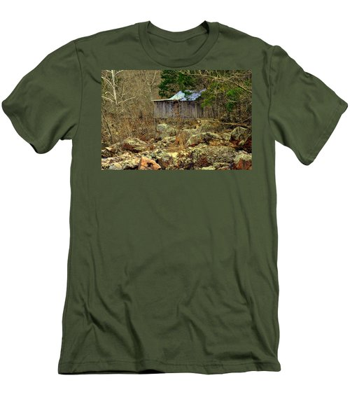 Men's T-Shirt (Slim Fit) featuring the photograph Klepzig Mill by Marty Koch