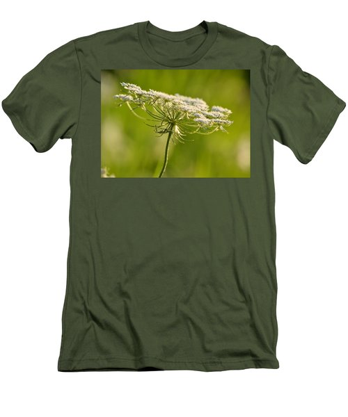 Lacy White Flower Men's T-Shirt (Athletic Fit)