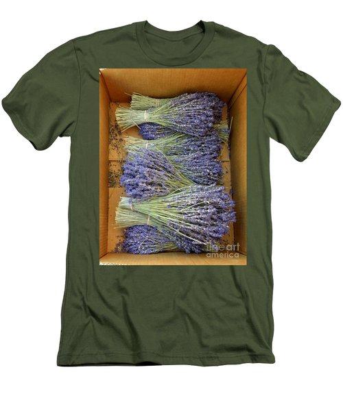 Lavender Bundles Men's T-Shirt (Slim Fit) by Lainie Wrightson