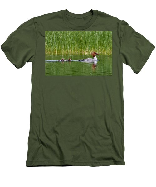 Men's T-Shirt (Slim Fit) featuring the photograph Lazy Swim by Brent L Ander