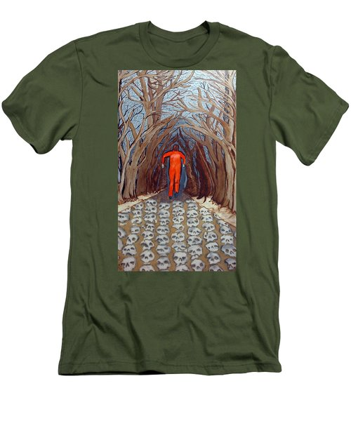 Men's T-Shirt (Slim Fit) featuring the painting Leaving Eden by Lisa Brandel