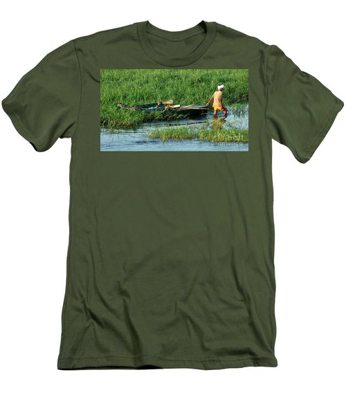 Life Along The Nile Men's T-Shirt (Slim Fit) by Vivian Christopher