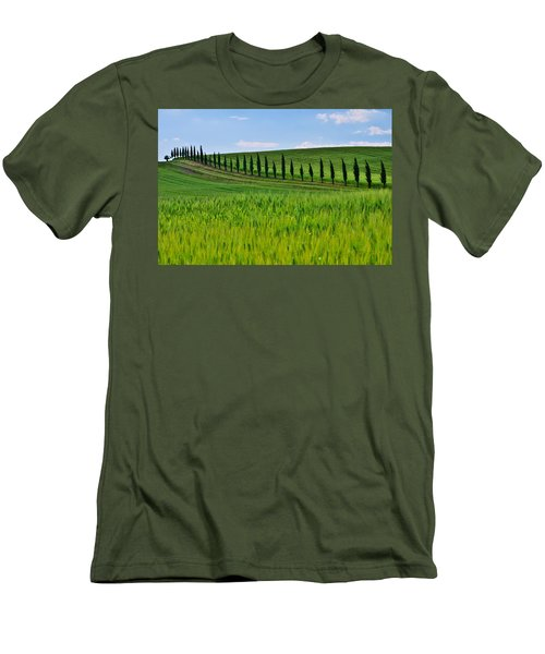 Lined Up Men's T-Shirt (Athletic Fit)
