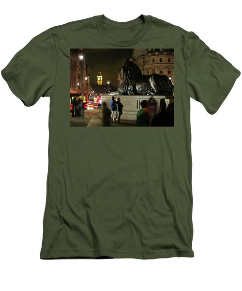 Men's T-Shirt (Slim Fit) featuring the photograph Lion An Ben by Pedro Cardona