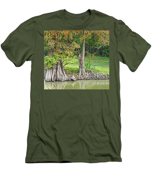 Men's T-Shirt (Slim Fit) featuring the photograph Louisiana Cypress by Lizi Beard-Ward