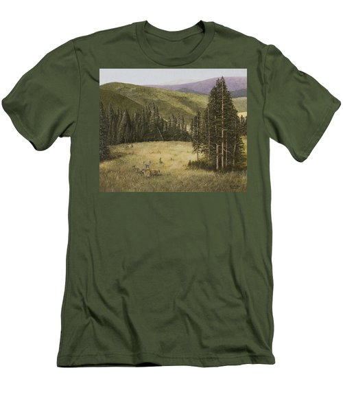 Majesty In The Rockies Men's T-Shirt (Athletic Fit)