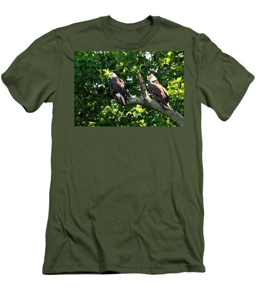 Men's T-Shirt (Slim Fit) featuring the photograph Mating Pair by Randall Branham