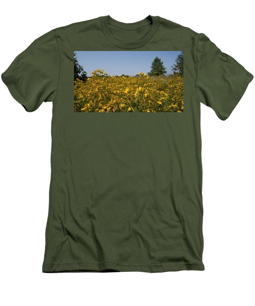 Men's T-Shirt (Slim Fit) featuring the photograph Meadow At Terapin Park by Charles Kraus