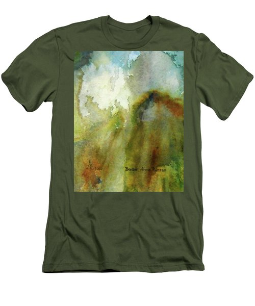Melting Mountain Men's T-Shirt (Slim Fit) by Anna Ruzsan