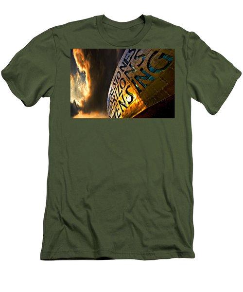 Men's T-Shirt (Slim Fit) featuring the photograph Millennium Drama by Meirion Matthias