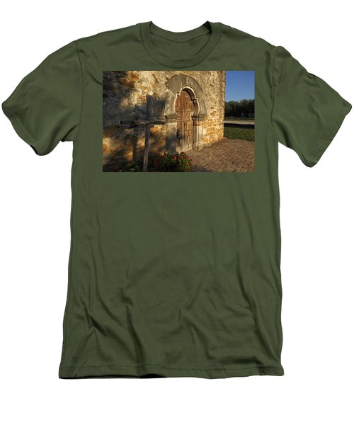 Men's T-Shirt (Slim Fit) featuring the photograph Mission Espada by Susan Rovira