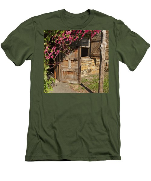 Men's T-Shirt (Slim Fit) featuring the photograph Mission San Jose 3 by Susan Rovira