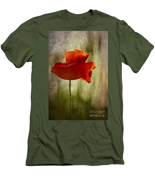 Men's T-Shirt (Slim Fit) featuring the photograph Moody Poppy. by Clare Bambers - Bambers Images