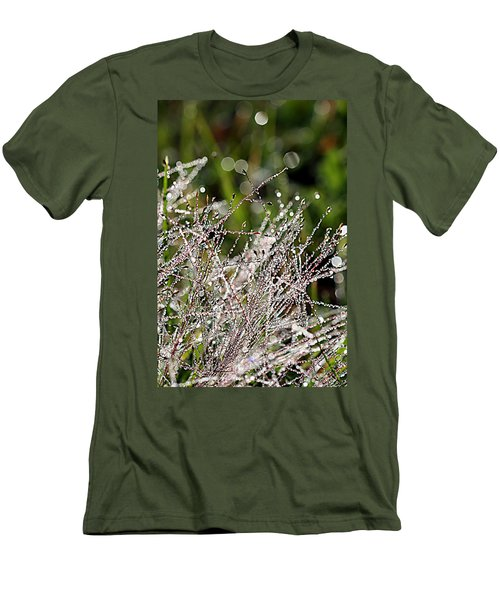 Men's T-Shirt (Slim Fit) featuring the photograph Morning Dew by Lauren Radke