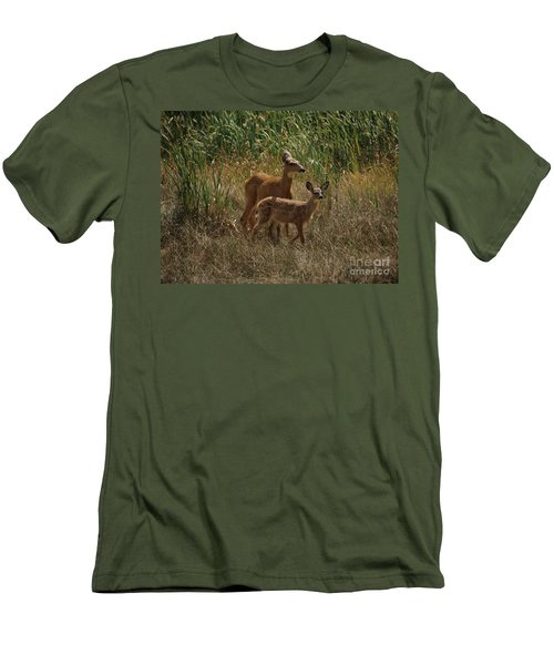Men's T-Shirt (Slim Fit) featuring the photograph Mount Rainier Residents by Sharon Elliott