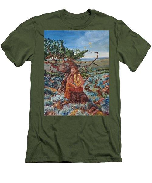 My Sister Lenore In The Cedar Breaks Men's T-Shirt (Slim Fit) by Dawn Senior-Trask