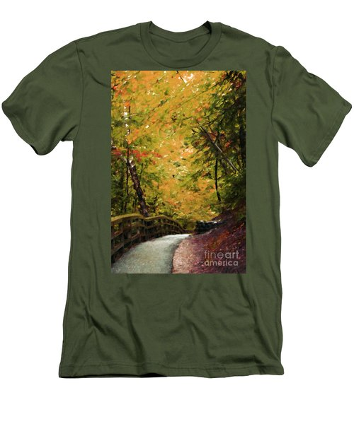 Men's T-Shirt (Slim Fit) featuring the photograph Nature In Oil  by Deniece Platt