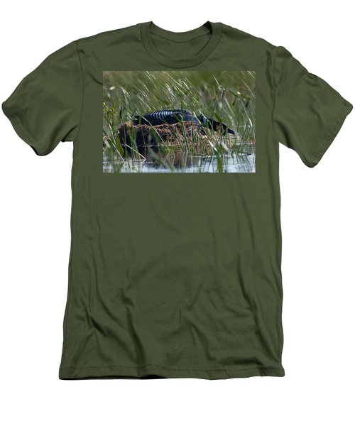 Men's T-Shirt (Slim Fit) featuring the photograph Nesting Loon by Brent L Ander