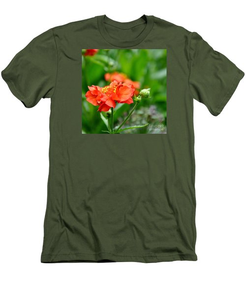 Never Boring Red And Green Men's T-Shirt (Slim Fit) by Tanya  Searcy