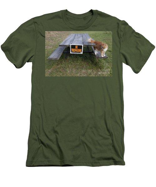 No Trespassing Men's T-Shirt (Slim Fit) by Jeannette Hunt