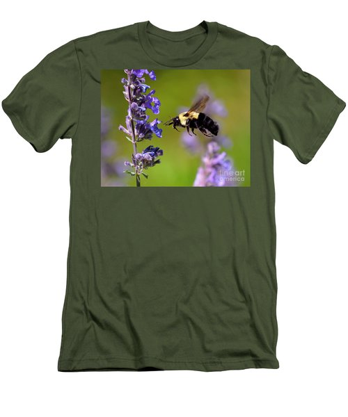 Non Stop Flight To Pollination Men's T-Shirt (Athletic Fit)