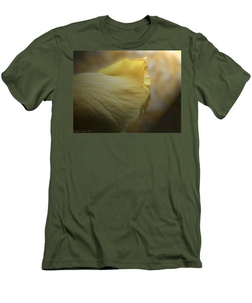 Men's T-Shirt (Slim Fit) featuring the photograph Oh So Soft Is The Kiss Of Dew by Debbie Portwood