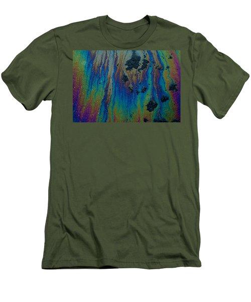 Oil On Pavement Aurora Borealis Men's T-Shirt (Athletic Fit)